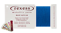 round metallic yarn BLUE NAVY LR