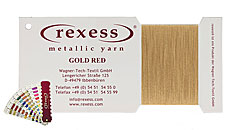 round metallic yarn GOLD RED
