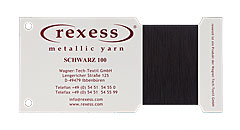 round metallic yarn SCHWARZ 100